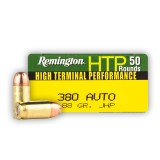 Remington HTP 380 Auto 88 Grain JHP - 50 Rounds