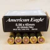 Federal American Eagle 5.56x45mm 55 Grain FMJBT - 500 Rounds