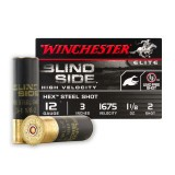 "12 ga - 3"" - #2 Hex Steel Shot - Winchester Blind Side - 25 Rounds"