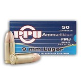 Prvi Partizan 9mm 115 Grain FMJ - 1000 Rounds