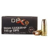 Corbon 9mm +P 115 Grain SCHP DPX - 20 Rounds
