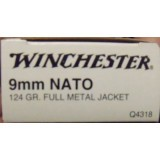 Winchester 9mm 124 Grain FMJ NATO – 50 Rounds