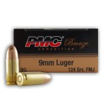 PMC 9mm 124 Grain FMJ - 1000 Rounds