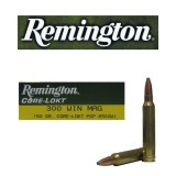 Remington Core-Lokt 300 Winchester Magnum 150 Grain PSP - 20 Rounds