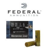 "Federal Speed-Shok 20 Gauge 2-3/4"" 3/4 oz. #6 Steel Shot – 25 Rounds"