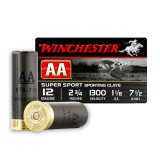 "Winchester AA Sporting Clay 12 Gauge 2-3/4"" 1-1/8 oz. #7-1/2 - 250 Rounds"