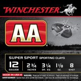 "Winchester AA Sporting Clays 12 Gauge 2-3/4"" 1-1/8 oz. #8 – 25 Rounds"