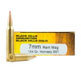 Black Hills Gold 7mm Rem Mag 154 Grain Hornady SST - 20 Rounds