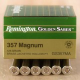 Remington Golden Saber 357 Mag 125 Grain JHP - 500 Rounds