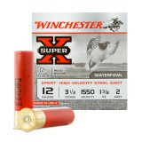 "Winchester Super-X High Velocity 12 Gauge 3-1/2"" 1-3/8 oz. #2 Steel Shot – 25 Rounds"