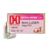Hornady Critical Defense 9mm 100 Grain FTX - 25 Rounds
