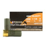 """Fiocchi 12 Gauge 2-3/4"""" High Velocity Hunting #8 Shot - 25 Rounds"""
