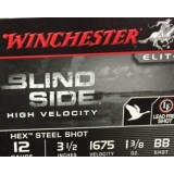 "Winchester Blind Side Waterfowl 12 Gauge 3-1/2"" 1-1/3 oz. #BB Hex Steel Shot – 25 Rounds"