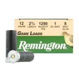 "Remington Game Loads 12 Gauge 2-3/4"" 1 oz. #8 – 25 Rounds"