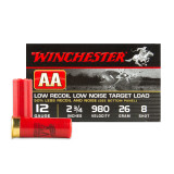 "Winchester AA 12 Gauge 2-3/4"" 7/8 oz. #8 Lead Shot Low Recoil Target Load - 25 Rounds"