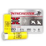 "Winchester Super-X 20 Gauge 2-3/4"" 7/8 oz. #8 - 250 Rounds"