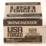 Winchester Forged 9mm 115 Grain FMJ - 750 Rounds