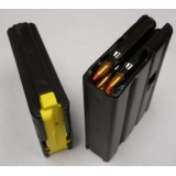 D&H Industries AR-15 Magazine - 223 Rem 10 Round - Black Teflon w Yellow Magpul Follower