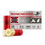 "Winchester Super-X 12 Gauge 2-3/4"" 1-1/4 oz. #4 – 25 Rounds"