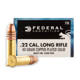 Federal Game-Shok 22 LR 40 Grain CPRN – 5000 Rounds