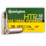 Remington HTP 38 Special +P 125 Grain SJHP - 500 Rounds