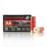 "Winchester AA Light Target 12 Gauge 2-3/4"" 1-1/8 oz. #7.5 – 25 Rounds"
