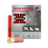 "Winchester Super-X High Brass 410 Gauge 3"" 1-1/16 oz. #7-1/2 – 25 Rounds"