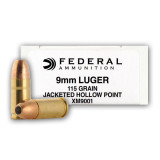 Federal XM9001 9mm 115 Grain JHP – 1000 Rounds