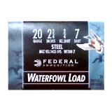 "Federal Speed-Shok Waterfowl Load 20 Gauge 2-3/4"" 3/4 oz. #7 Steel Shot – 25 Rounds"