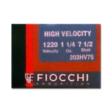 "Fiocchi High Velocity 20 Gauge 3"" 1-1/4 oz. #7-1/2 – 25 Rounds"