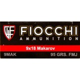 Fiocchi 9mm Makarov 95 Grain FMJ – 50 Rounds