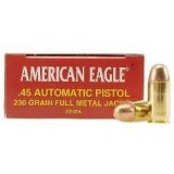 Federal 45 ACP 230 Grain American Eagle FMJ - 50 Rounds