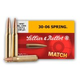 Sellier & Bellot Match 30-06 168 Grain HP-BT - 20 Rounds