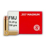 Sellier & Bellot 357 Mag 158 Grain FMJ - 50 Rounds