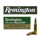 Remington Premier 222 Rem 50 Grain AccuTip-V BT – 20 Rounds