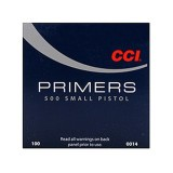CCI #500 Small Pistol Primers - 5,000 Count