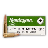 Remington UMC 6.8mm Remington SPC 115 Grain MC - 200 Rounds