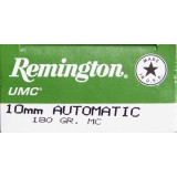 Remington UMC 10mm Auto 180 Grain MC - 50 Rounds