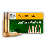 Sellier & Bellot 7mm Rem Mag 140 Grain SP - 20 Rounds
