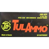 Tula Cartridge Works 380 Auto 91 Grain FMJ – 50 Rounds