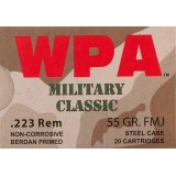 WPA Military Classic 223 Rem 55 Grain FMJ - 20 Rounds