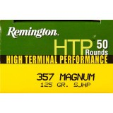 Remington HTP 357 Mag 125 Grain SJHP - 50 Rounds