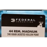 Federal Premium Power-Shok 44 Mag 240 Grain JHP - 20 Rounds