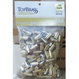 Top Brass Casings 40 S&W New Unprimed Brass - 250