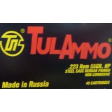 Tula Cartridge Works 223 Rem 55 Grain HP – 40 Rounds