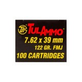 Tula Cartridge Works 7.62x39mm 122 Grain FMJ - 100 Rounds
