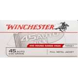 Winchester Range Pack 45 ACP 230 Grain FMJ – 200 Rounds