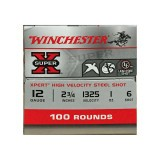 "Winchester Xper High Velocity 12 Gauge 2-3/4"" 1 oz. #6 Steel Shot - 100 Rounds"