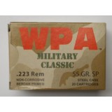 WPA Military Classic 223 Rem 55 Grain SP - 20 Rounds