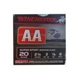 "Winchester AA Sporting Clay 20 Gauge 2-3/4"" 7/8 oz. #8 – 25 Rounds"